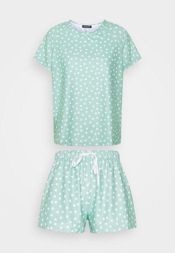 SPOT T-SHIRT WITH SHORTS - Pyjamas - green