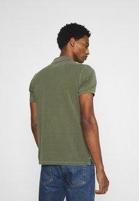 Marc O'Polo - SHORT SLEEVE BUTTON PLACKET - Polo shirt - dried herb - 2