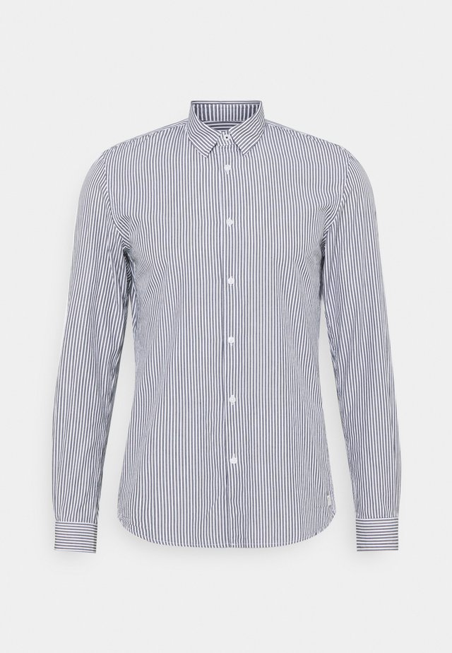 HIDDEN BUTTONDOWN COLLAR SHIRT - Camicia - navy/ white