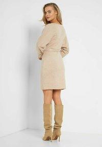 ORSAY - MIT BINDEGÜRTEL - Shift dress - autumn beige - 2