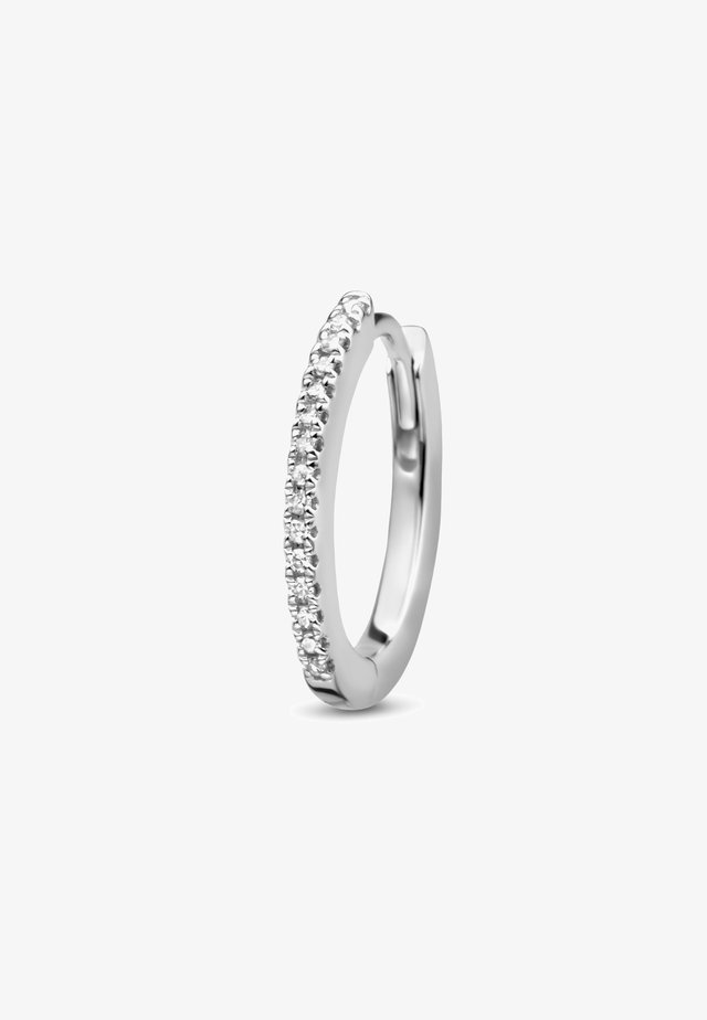 ENDLESS DIAMOND SINGLE HOOP (OVAL) - Boucles d'oreilles - white rhodium silver