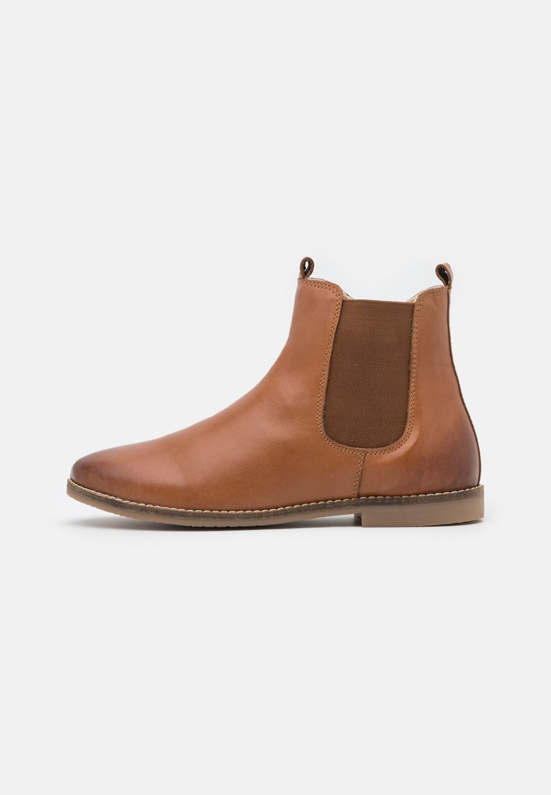 Friboo - LEATHER BOOTIES - Classic ankle boots - cognac