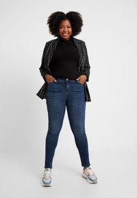 Vero Moda Curve - Slim fit jeans - dark blue denim - 1
