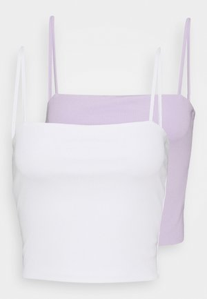EILY SINGLET 2 PACK - Toppe - lilac/white