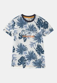 Blue Effect - BOYS AMAZONASTRIP - Print T-shirt - blau - 0