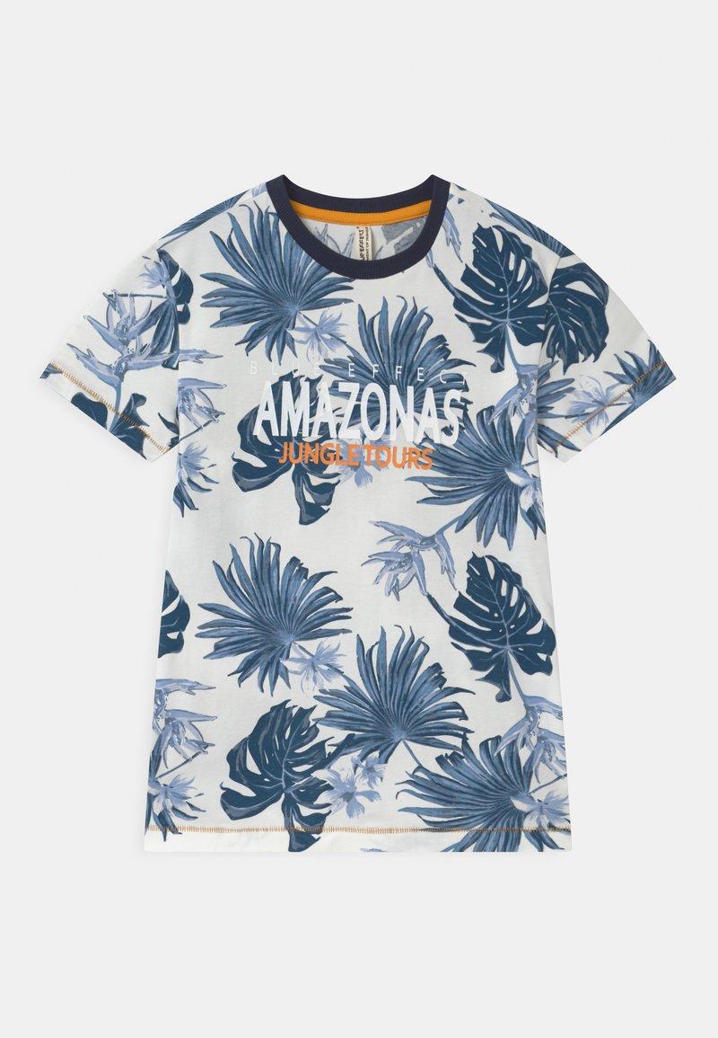Blue Effect - BOYS AMAZONASTRIP - Print T-shirt - blau