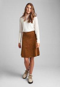 Nümph - NUMEGHAN - A-snit nederdel/ A-formede nederdele - bronze - 1
