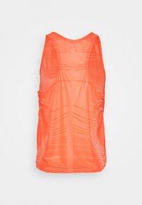 Nike Performance - TANK - T-shirt sportiva - bright mango/white/metallic silver - 1
