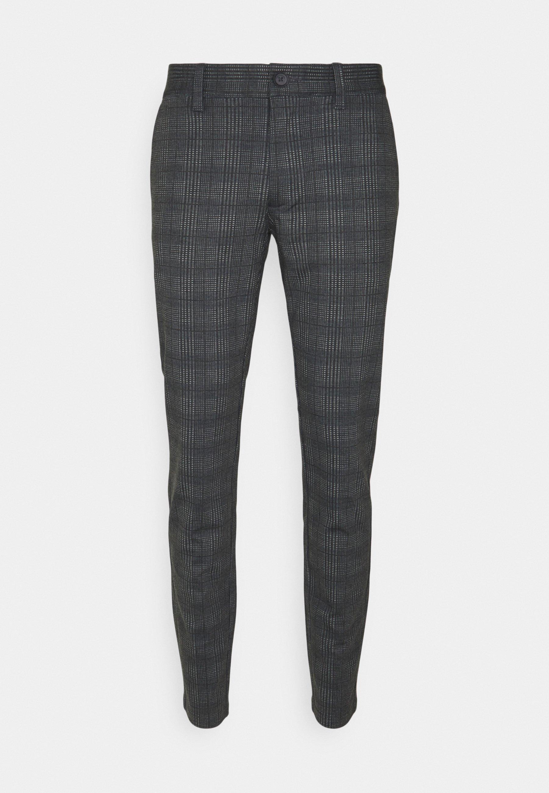 Uomo ONSMARK CHECK PANTS - Pantaloni