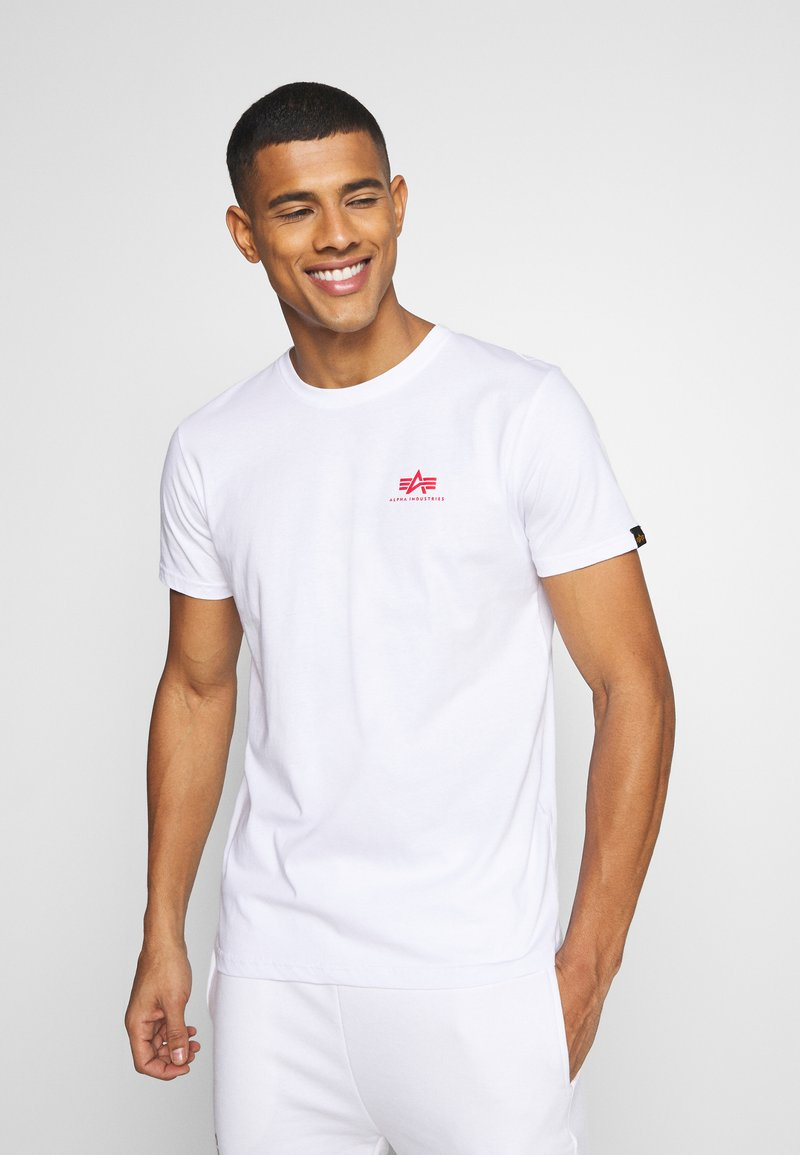 Alpha Industries - Print T-shirt - white/red