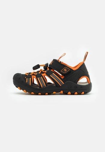 CRAB UNISEX - Walking sandals - black/orange/charcoal