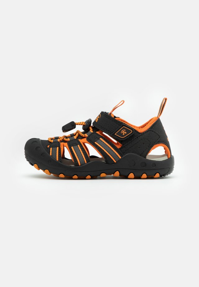 CRAB UNISEX - Sandales de randonnée - black/orange/charcoal