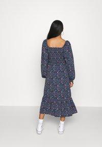 Missguided - FRILL SHIRRED MILKMAID MIDI DRESS - Maxi dress - blue - 2