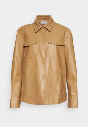 PARIS JACKET - Leather jacket - light brown