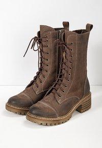 Inuovo - Platform ankle boots - nb brown ubr - 3