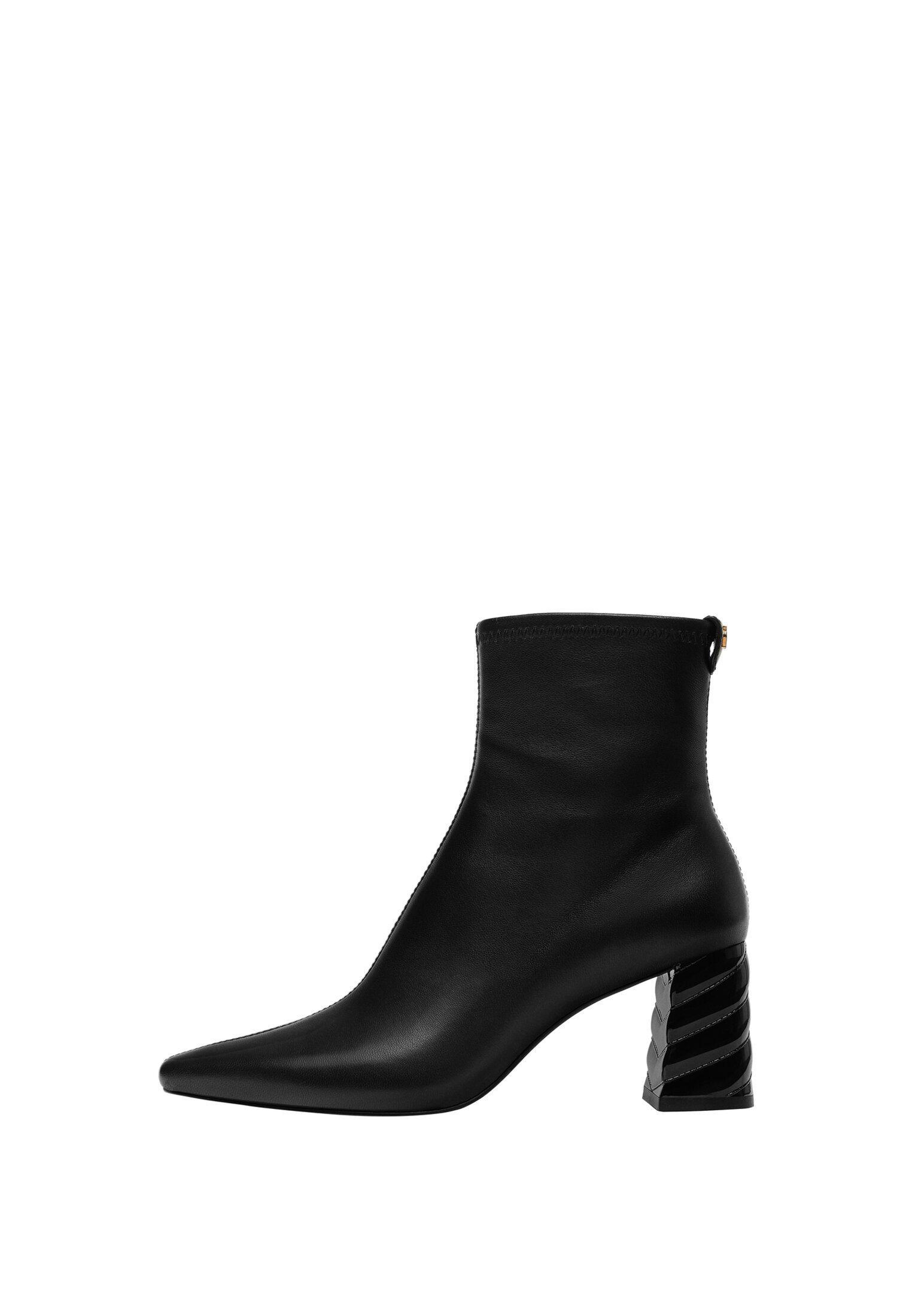 Uterqüe Ankle Boot - Black/schwarz