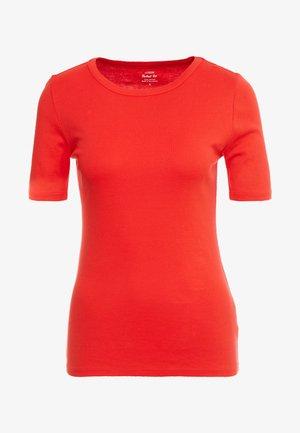 CREWNECK ELBOW SLEEVE - T-shirts - bright cerise