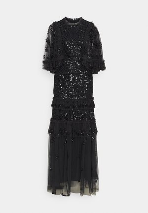 MELODY SEQUIN GOWN - Occasion wear - graphite/black