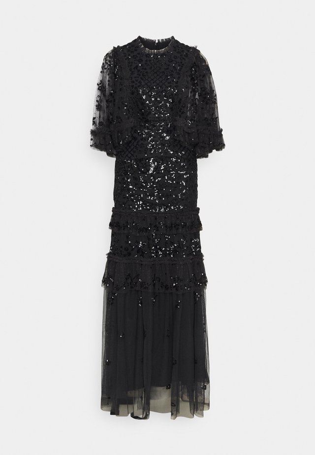 MELODY SEQUIN GOWN - Gallakjole - graphite/black