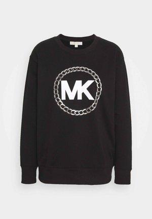 CHAIN LOGO - Sweatshirt - black/silver
