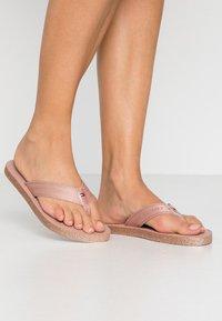Tommy Hilfiger - MYRA  - T-bar sandals - rose gold - 0