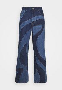 Jaded London - JADED MEN X CURLYFRYSFEED SWIRL CUT & SEW  - Bootcut jeans - dark blue - 4
