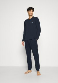 Emporio Armani - TROUSERS - Pyjama bottoms - blu navy - 1