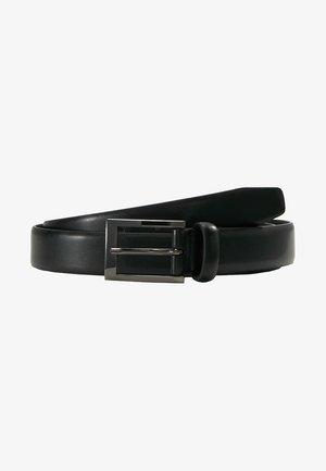TEXT BUCKLE - Cinturón - black
