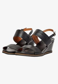 Bianco - Wedge sandals - black - 3