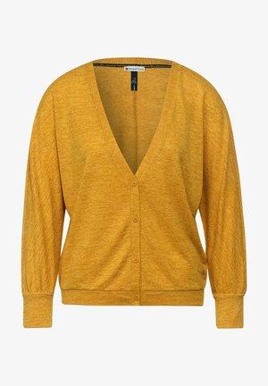 SHIRTJACKE IN MELANGE OPTIK - Cardigan - gelb