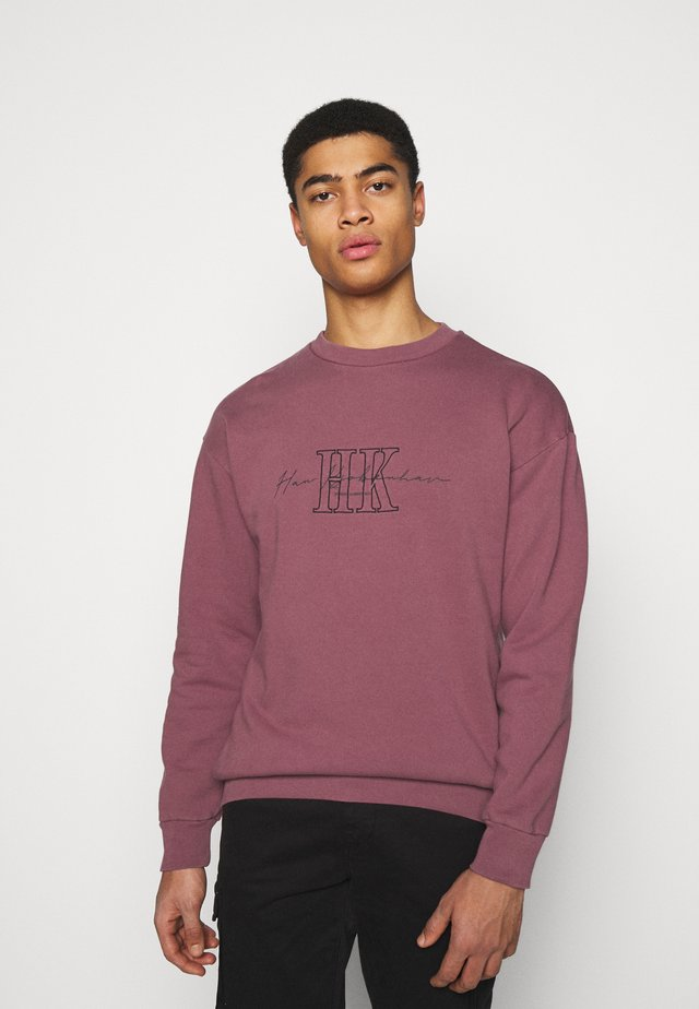 ARTWORK CREW - Sweater - faded dark red