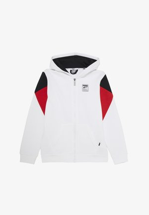 REBEL BLOCK FULL ZIP HOODIE - Zip-up hoodie - white