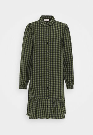 Shirt dress - olive mix