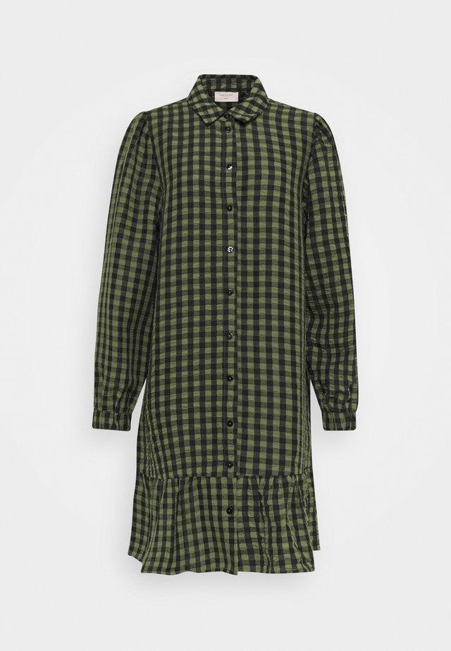 Shirt dress - olive mix