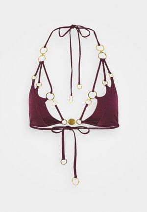 DAVINE  - Bikini top - burgundy