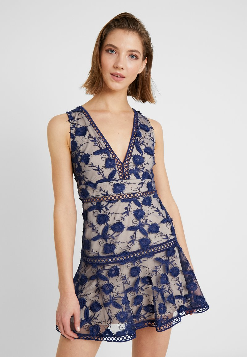 Love Triangle - BLOSSOM DRESS - Cocktail dress / Party dress - navy