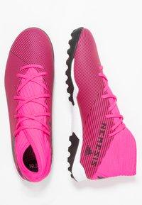 adidas Performance - NEMEZIZ 19.3 TF - Kopačky na umělý trávník - shock pink/core black - 1