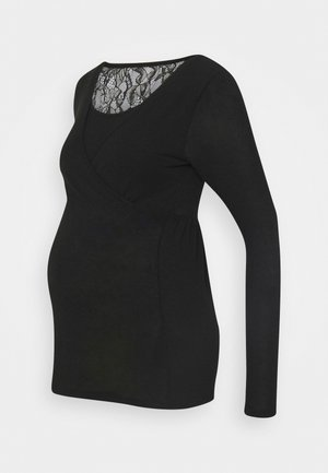 MLARTUR TESS - Long sleeved top - black/solid