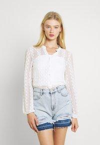 Vila - Button-down blouse - cloud dancer - 0