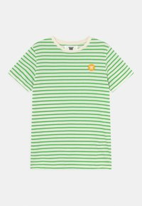 Wood Wood - OLA UNISEX - Print T-shirt - off-white/green - 0