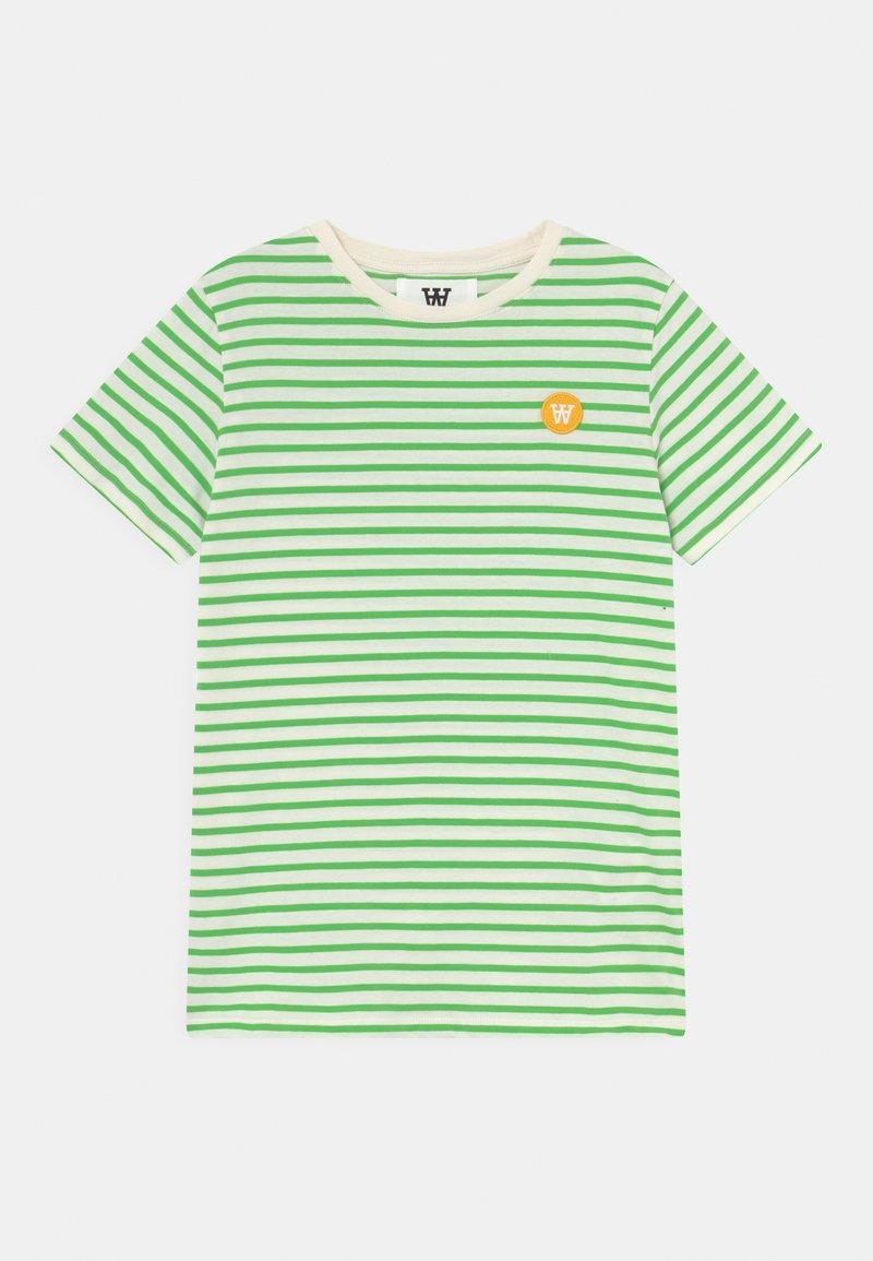 Wood Wood - OLA UNISEX - Print T-shirt - off-white/green