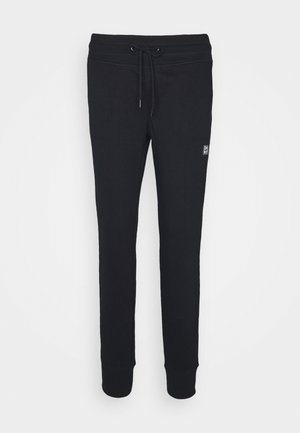 LOGO PATCH CUFFED JOGGER - Tracksuit bottoms - black