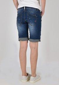 Buena Vista - Denim shorts - destroy blue - 1