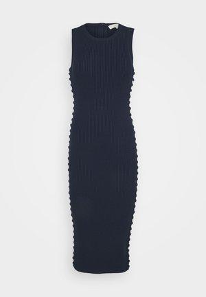 ROPE LACEUP MIDI DRESS - Vestido de tubo - midnightblue