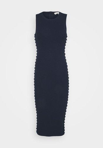 ROPE LACEUP MIDI DRESS - Pouzdrové šaty - midnightblue
