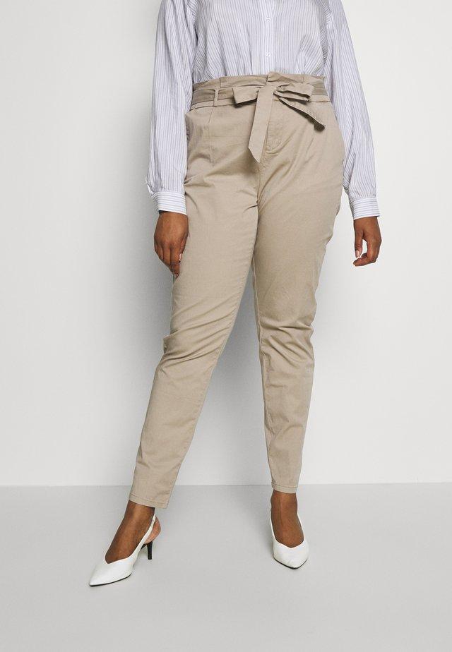 VMEVA LOOSE PAPERBAG COT  - Pantaloni - beige