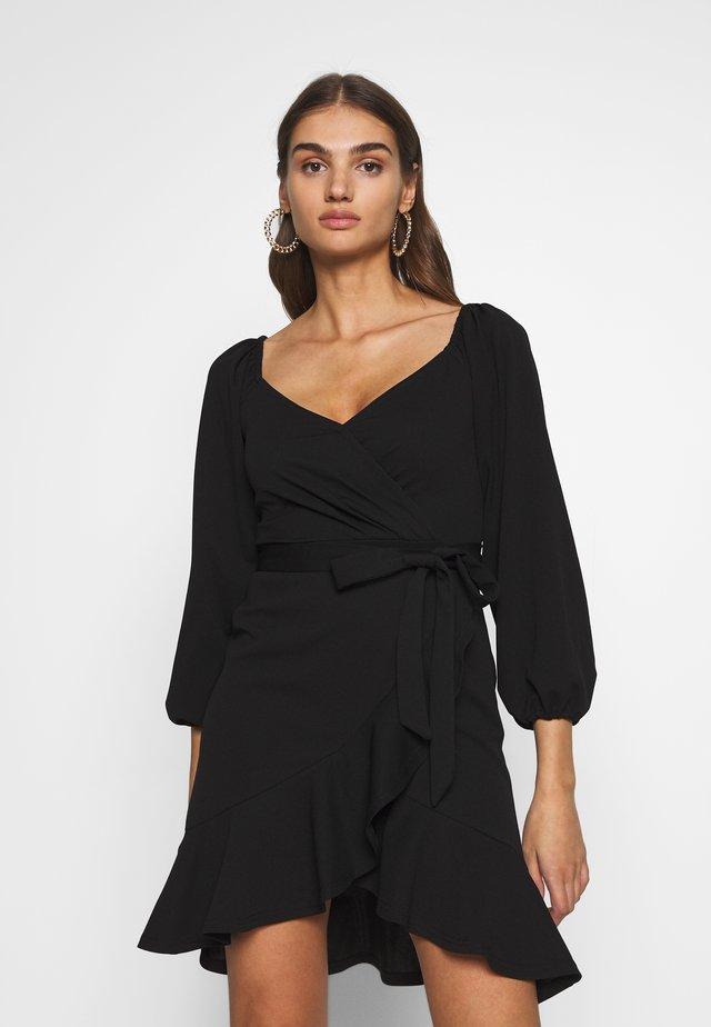 LOVLEY FRILL DRESS - Cocktailjurk - black