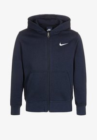 Nike Performance - FULL ZIP - Zip-up hoodie - obsidian/white - 0