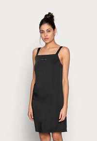 Calvin Klein Jeans - WIDE STRAPS DRESS - Cocktail dress / Party dress - black - 0