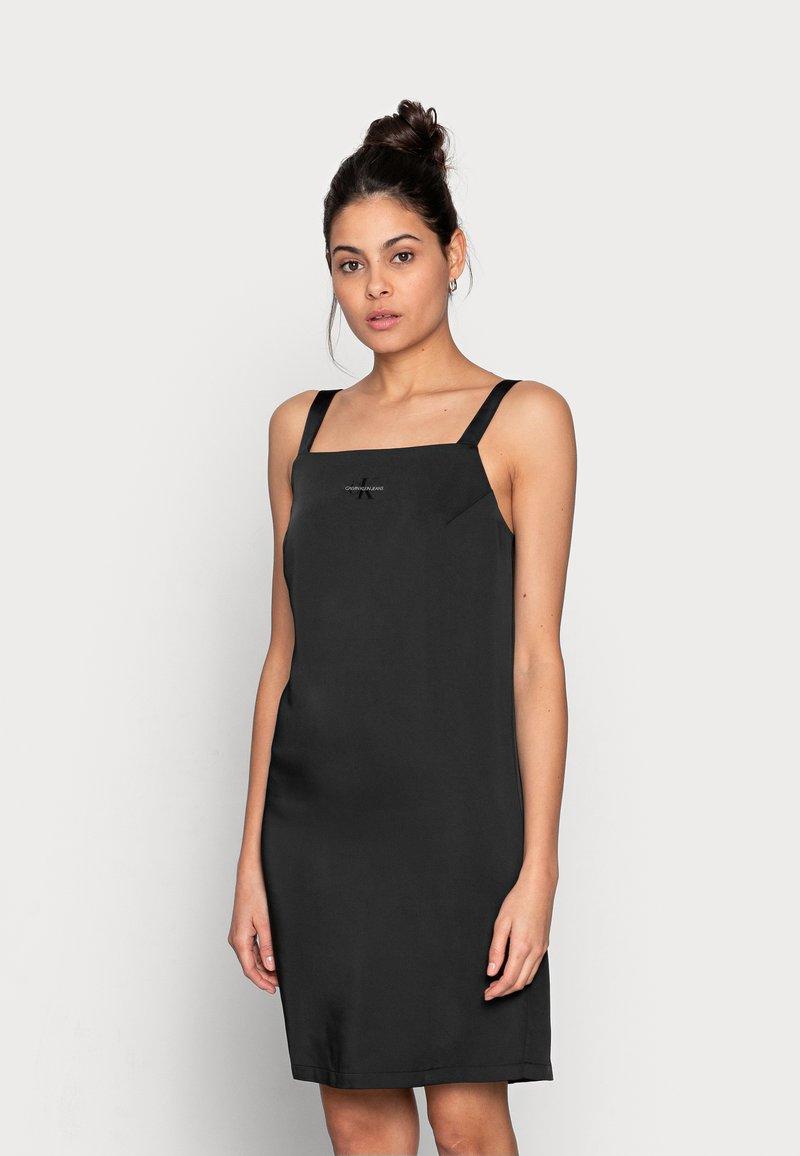 Calvin Klein Jeans - WIDE STRAPS DRESS - Cocktail dress / Party dress - black